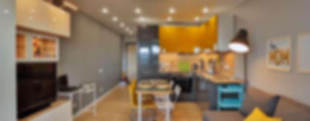 Salas de estilo escandinavo por Студия дизайна Дмитрия Артемьева 'Prosto Design'