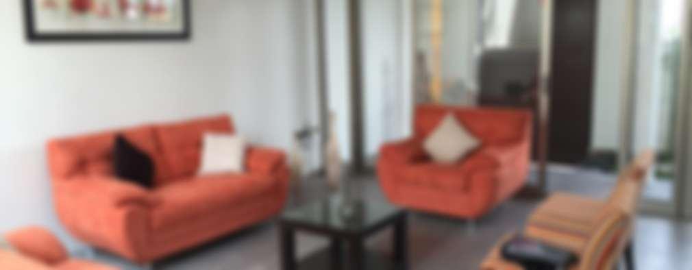 غرفة المعيشة تنفيذ Cahtal Arquitectos