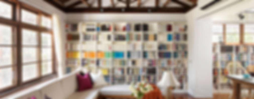 scandinavian Living room by 築築空間