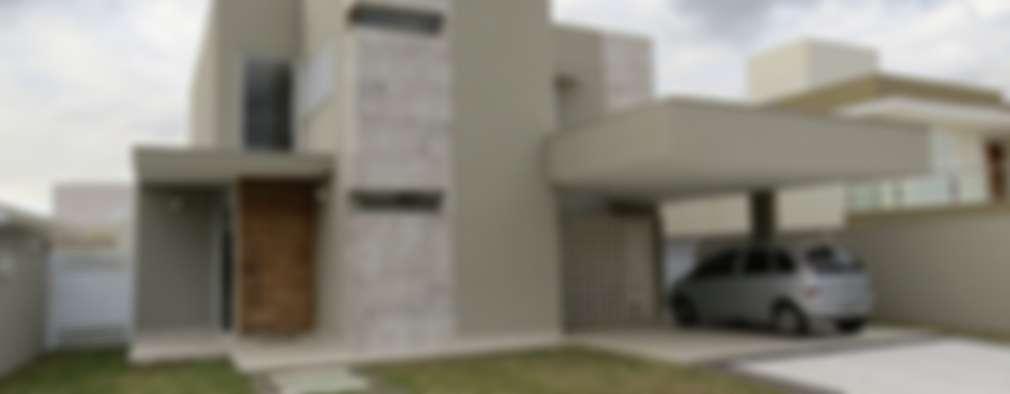 Casas de estilo moderno por Habitat arquitetura