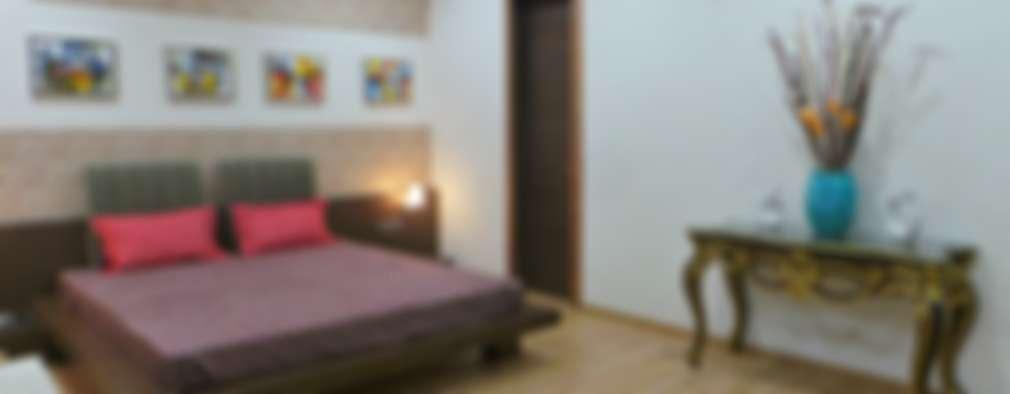 Bungalow : modern Bedroom by Shadab Anwari & Associates.