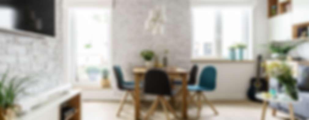 Sala da pranzo in stile in stile Scandinavo di Saje Architekci Joanna Morkowska-Saj