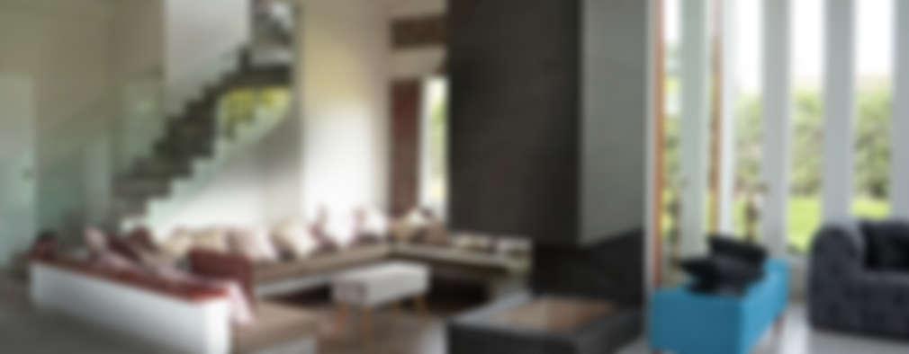rustic Living room by malu goni