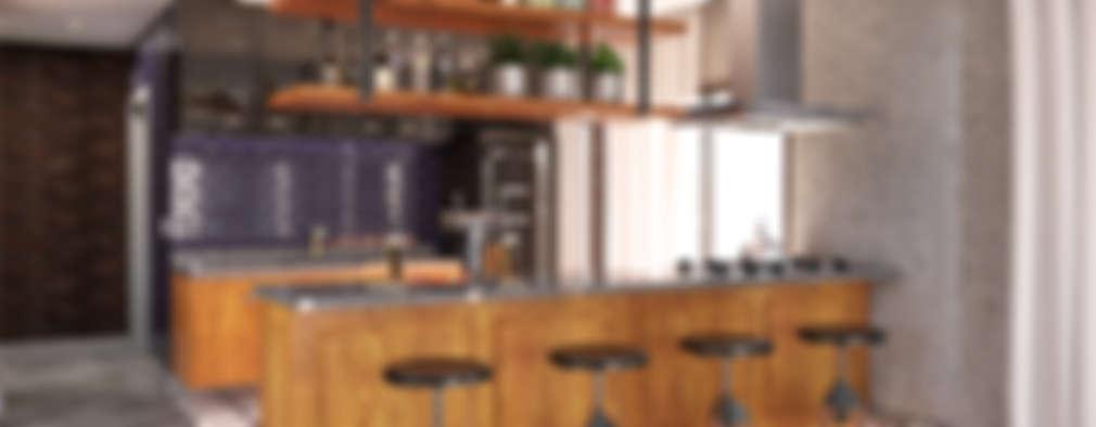 Cocinas de estilo industrial por MS One Arquitetura & Design de Interiores