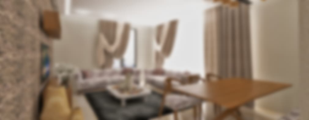 50GR Mimarlık – halkalı_1+1 daire: modern tarz Oturma Odası