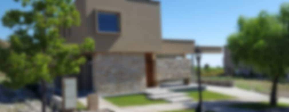 CASA DALVIAN M77: Casas de estilo minimalista por MABEL ABASOLO ARQUITECTURA