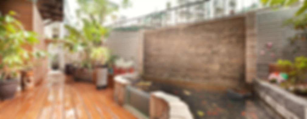 Jardines de estilo topical por 芸采創意空間設計-YCID Interior Design