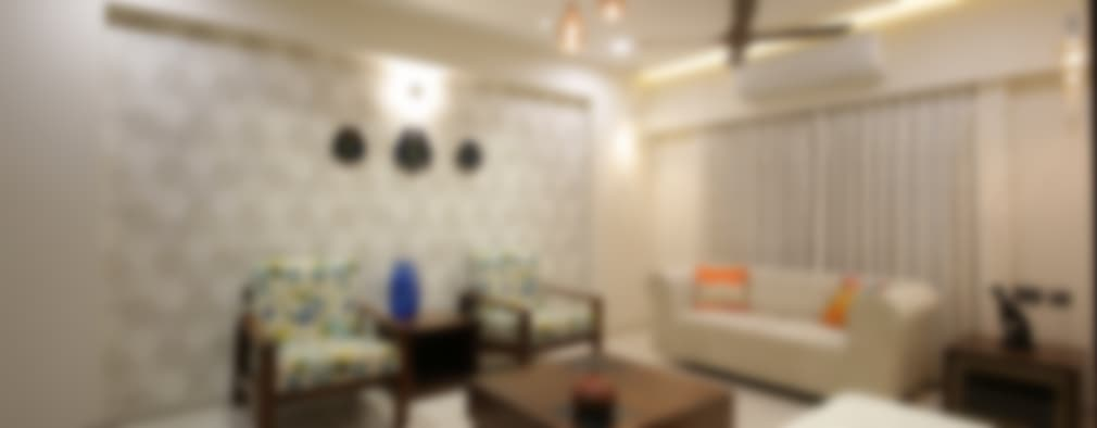 Mr vora's flat: asian Living room by studio 7 designs