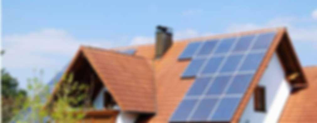 Instalacion en Techos: Casas de estilo moderno por Energías Sustentables Soleon