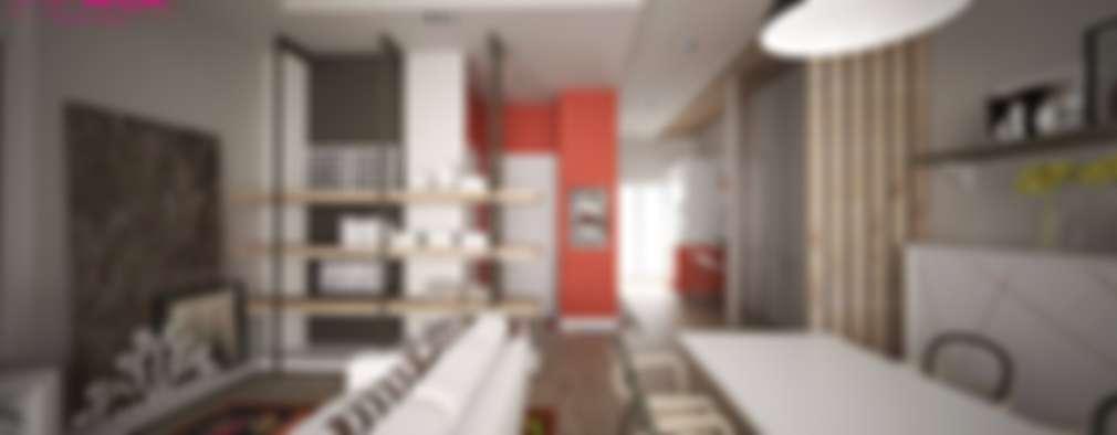 Comedores de estilo ecléctico por progettAREA interni & design