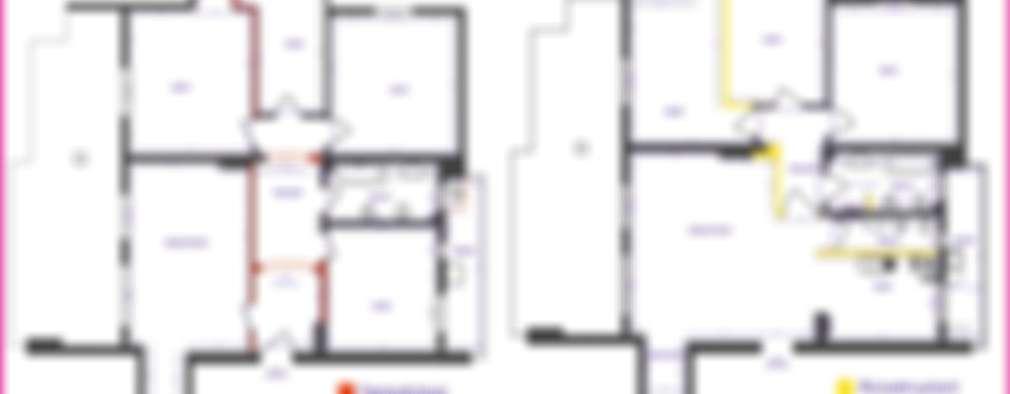Livings de estilo ecléctico por progettAREA interni & design