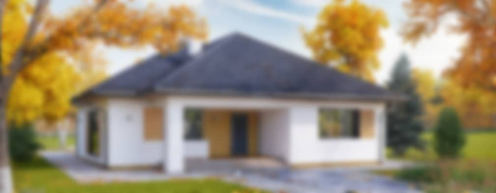 Wizualizacja projektu domu Dedal: styl nowoczesne, w kategorii Domy zaprojektowany przez Biuro Projektów MTM Styl - domywstylu.pl