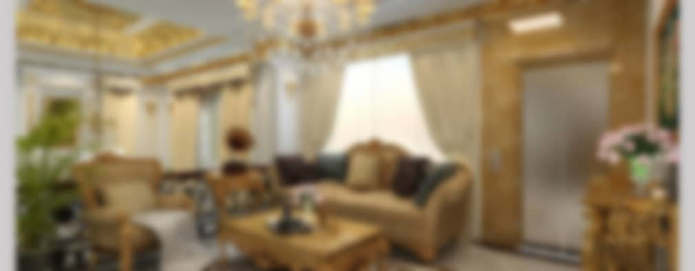 غرفة المعيشة تنفيذ CÔNG TY CP XÂY DỰNG VÀ KIẾN TRÚC ĐẤT VIỆT