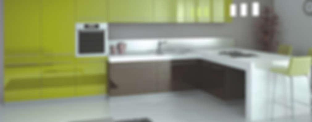 Feza Mutfak – Yeşil ve antrasit mutfak dolabı:  tarz