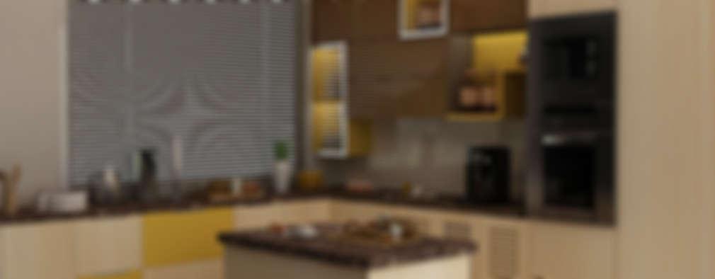 Villa at Jay Pee Greens Greater Noida : modern Kitchen by Design Essentials