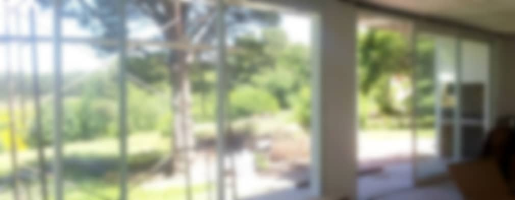 CASA L - VILLA VENTANA - COMARCA TURÍSTICA SIERRA DE LA VENTANA - PROVINCIA DE BUENOS AIRES: Livings de estilo moderno por MSA ESTUDIO DE ARQUITECTURA