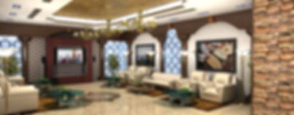 غرفة المعيشة تنفيذ Gurooji Design
