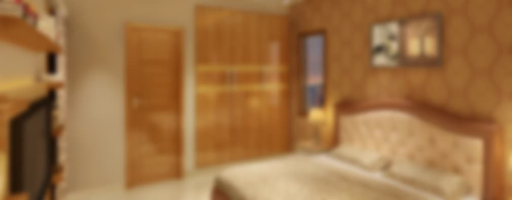 غرفة نوم تنفيذ Srijan Homes
