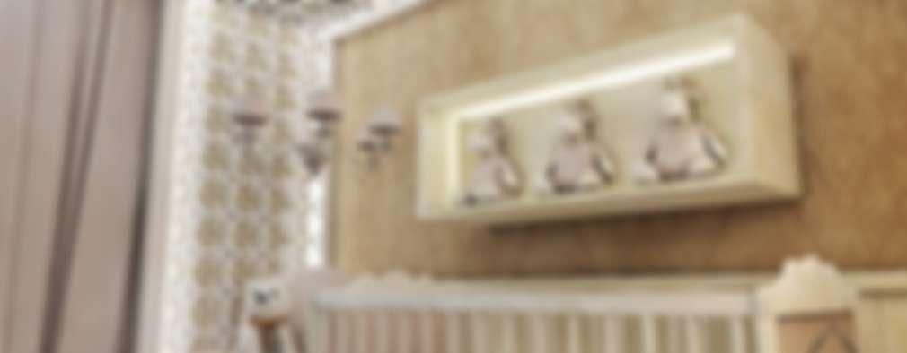 Dormitorios de bebé de estilo  por Renato Sabadin