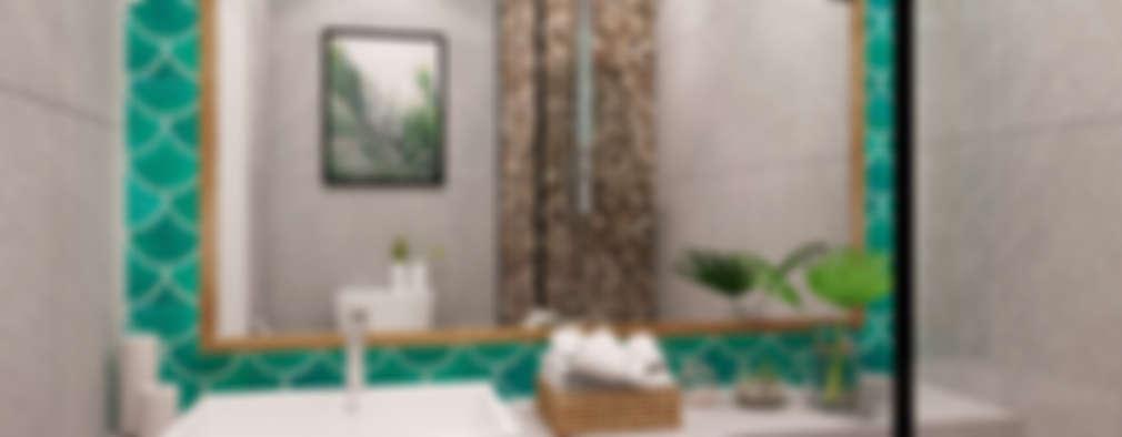 حمام تنفيذ JESSICA DESIGN STUDIO