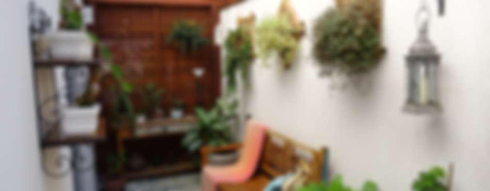 Jardines de invierno de estilo rústico por Ambiento Arquitetura