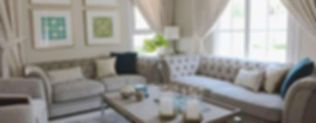 غرفة المعيشة تنفيذ Harf Noon Design Studio