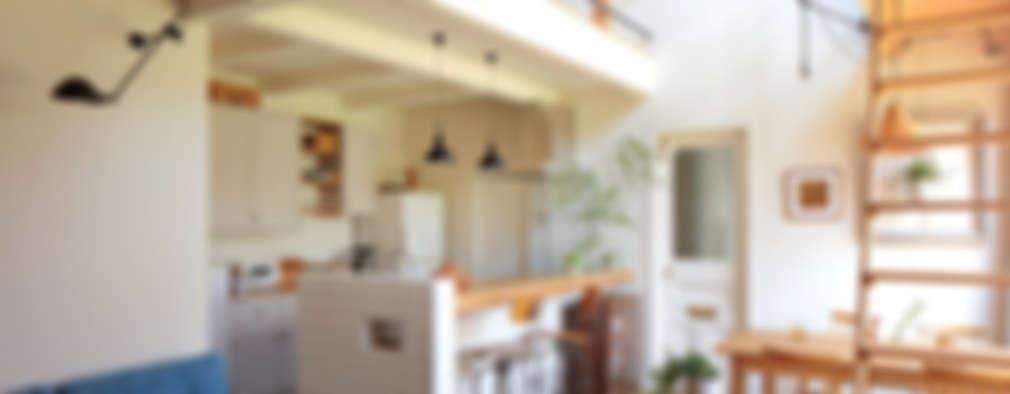 مطبخ ذو قطع مدمجة تنفيذ こぢこぢ一級建築士事務所