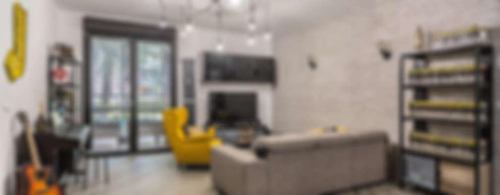 Facile Ristrutturare: endüstriyel tarz tarz Oturma Odası