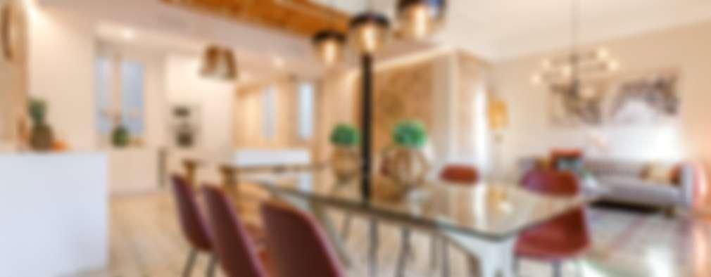 Sala da pranzo in stile in stile Moderno di Markham Stagers