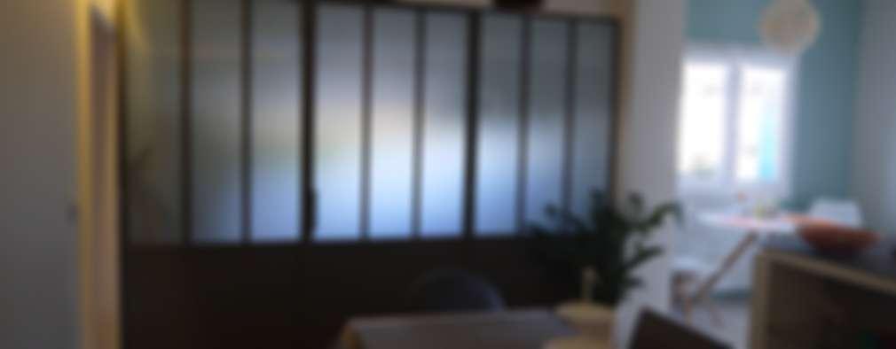 cloison façon atelier: Salle à manger de style de style Moderne par BRUNO BINI