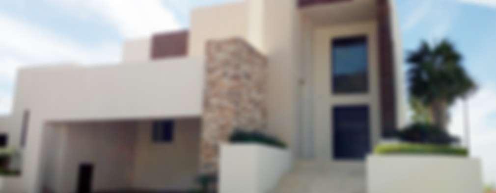 FACHADA: Casas de estilo moderno por Acrópolis Arquitectura