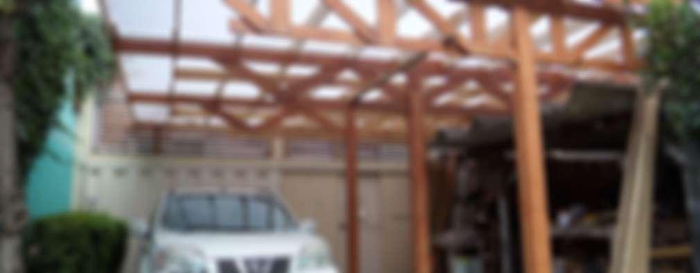 Cubierta Taller: Techos de estilo  por Van Herck-Arquitectos