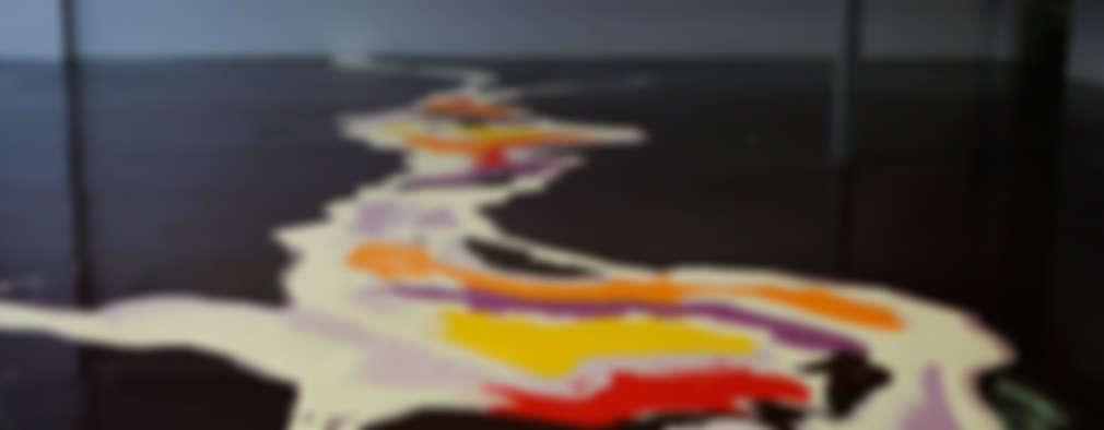 Pavimento multicolore:  in stile  di Due Punto Zero