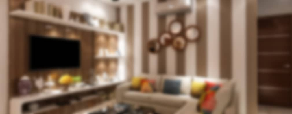 DDA flat at Vasant Kunj: minimalistic Living room by Design Essentials