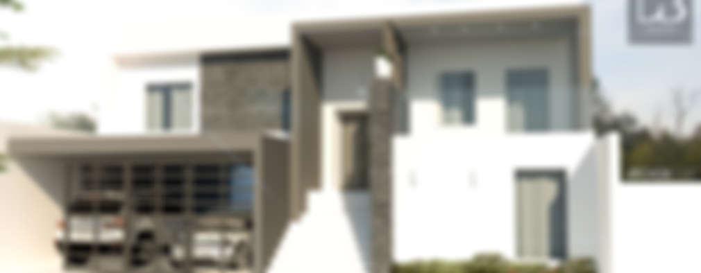 Fachada Principal: Casas de estilo moderno por Arch DB - Arquitectos