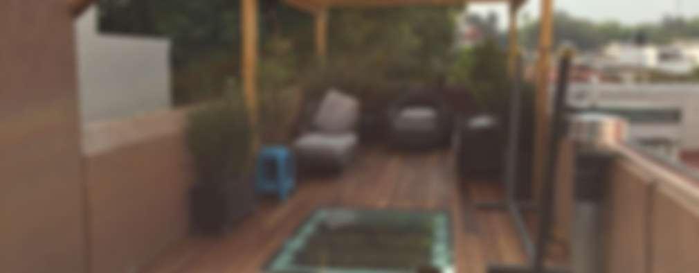 Roof garden en Coyoacán: Terrazas de estilo  por Materia Viva S.A. de C.V.