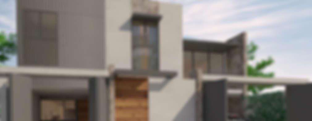 CH: Casas unifamiliares de estilo  por Zona Arquitectura Más Ingeniería