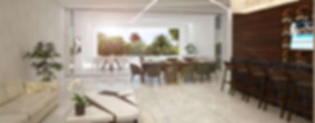 Proyecto de casa dise ada en canc n for Comedor 20 metros cuadrados