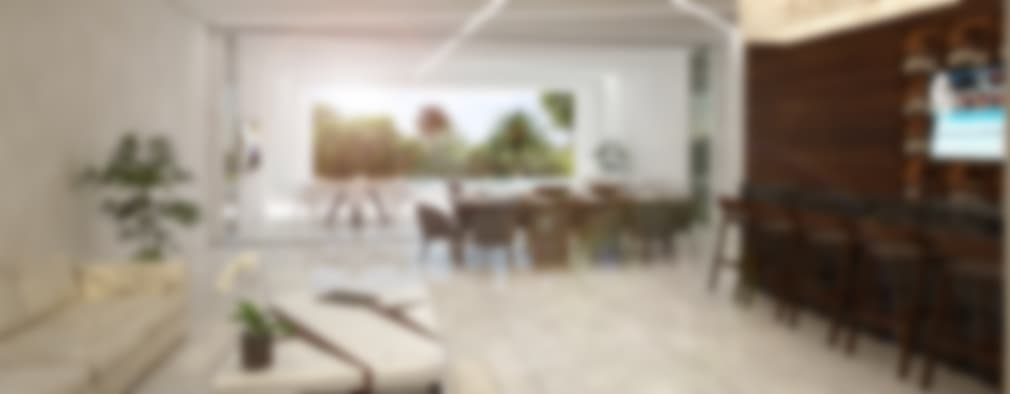 sala-comedor-bar:  de estilo  por studio arquitectura