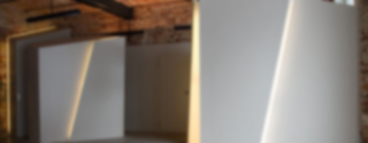 Loft Wedding designyougo - architects and designers Industrialer Flur, Diele & Treppenhaus MDF Grau
