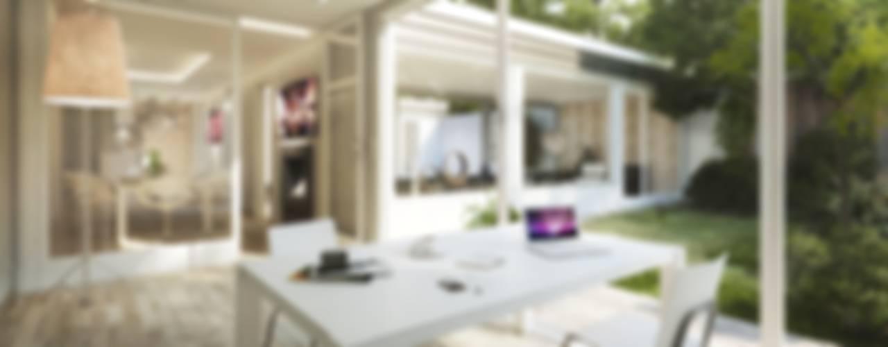 Estudios y despachos de estilo moderno de BERLINRODEO interior concepts GmbH Moderno