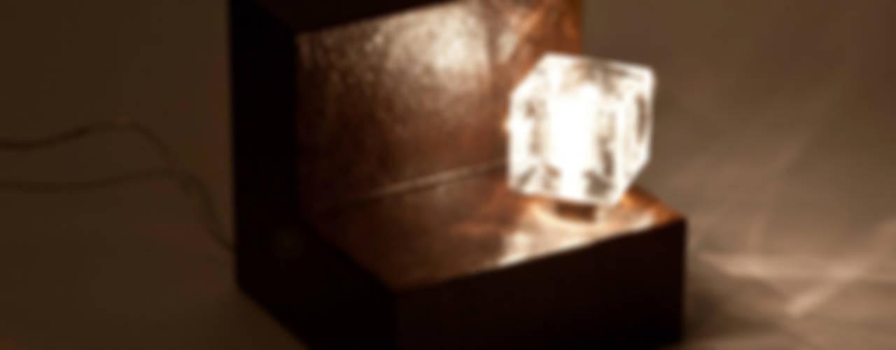 Tischleuchten - Korrodierter Stahl: modern  von MeinWerk,Modern