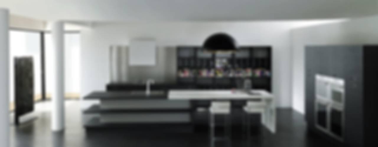 Küchenoberflächen aus Kunststoff für Designerküchen und Luxusküchen Moderne Küchen von Küchengaleria Oßwald GmbH Modern