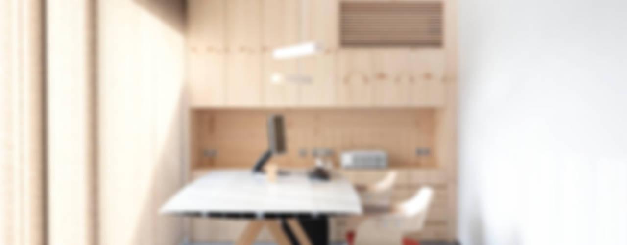 Skandynawskie domowe biuro i gabinet od Coblonal Arquitectura Skandynawski