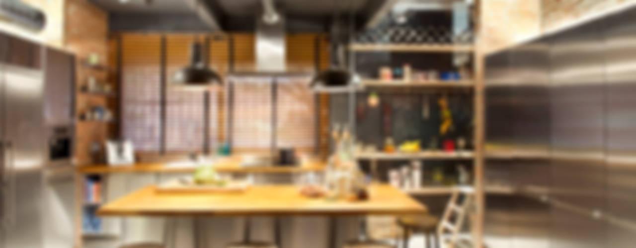 Projekty,  Kuchnia zaprojektowane przez Egue y Seta, Rustykalny