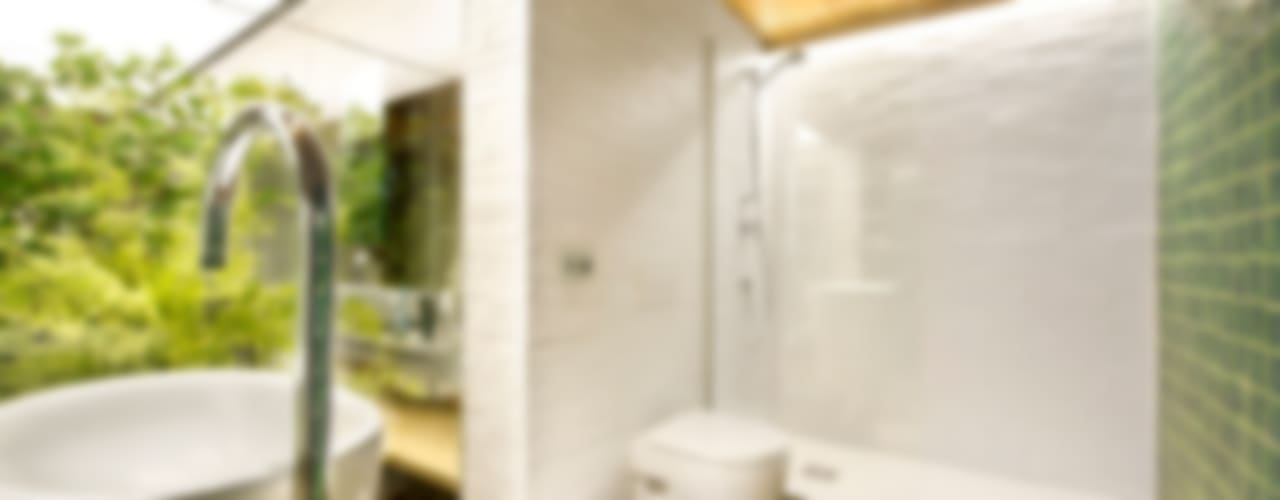 Bajo comercial convertido en loft (Terrassa) Baños de estilo rústico de Egue y Seta Rústico