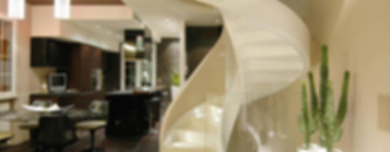 Modern Corridor, Hallway and Staircase by Enrico Muscioni Architect Modern
