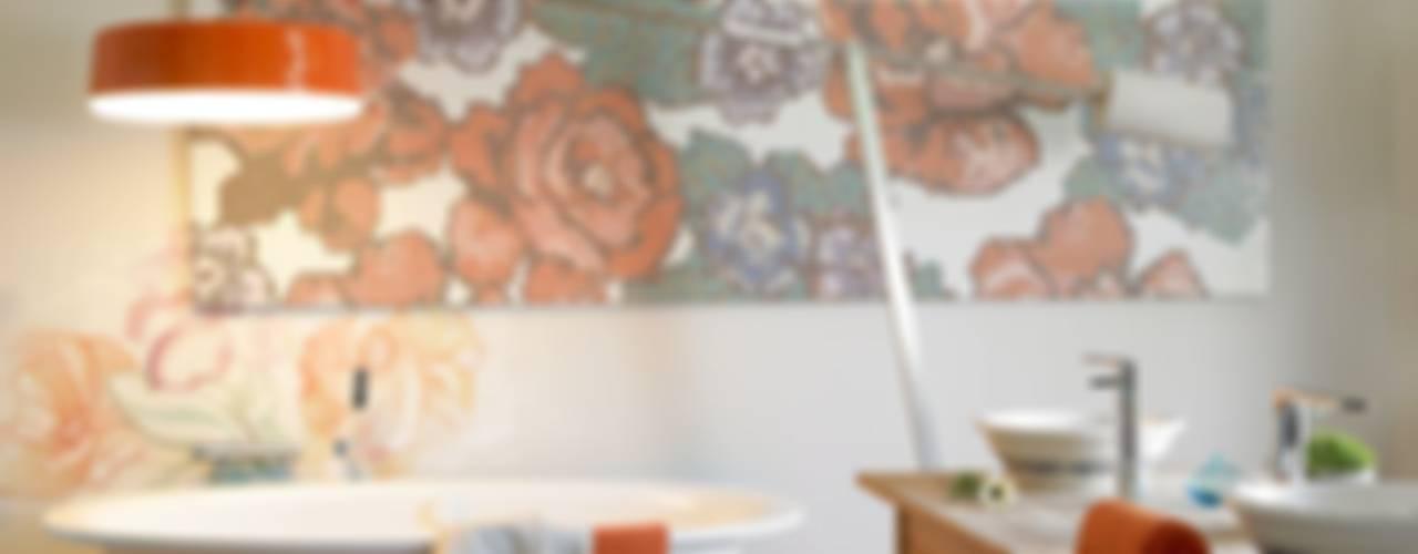 Flower Power Baños de estilo ecléctico de BARASONA Diseño y Comunicacion Ecléctico
