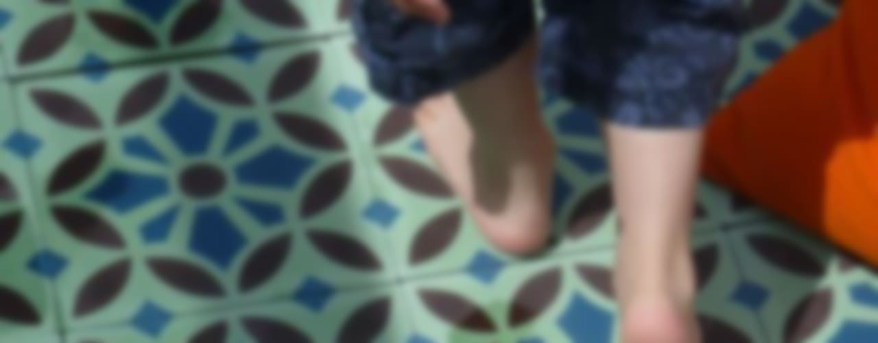 Cement tiles, Moroccan tiles, hydraulic tiles от Maria Starling Design Средиземноморский
