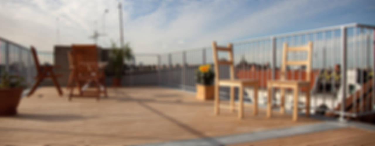 Teak Holzterrasse Balkon, Veranda & Terrasse von BS - Holzdesign